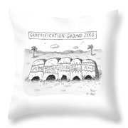 Gentrification: Ground Zero A Row Of Cavelike Throw Pillow