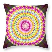 Geo Master Eleven Kaleidoscope Throw Pillow by Derek Gedney