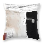 Geo Plan In White Throw Pillow