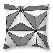 Geodesic Pyramids Throw Pillow