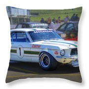 Geoghegan's Mustang Throw Pillow