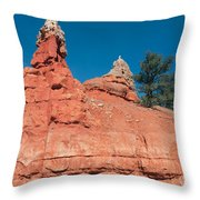 Geological Forces At Red Canyon Throw Pillow