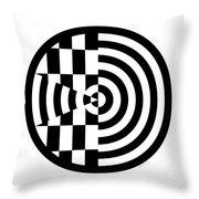 Geomentric Circle 3 Throw Pillow