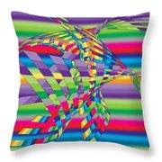Geometric 3 Throw Pillow by Mark Ashkenazi