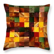 Geometric Abstract Quilted Meadow Throw Pillow