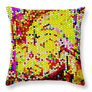 Geometric Abstractions Artwork Colorful Cool Creations Designer Phone Cases 121 Carole Spandau  Throw Pillow