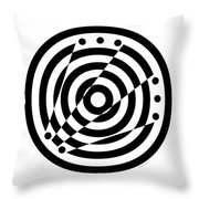 Geometric Circle 6 Throw Pillow