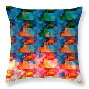 Geometric Cloud Cover Throw Pillow