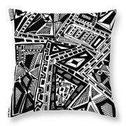 Geometric Doodle Throw Pillow