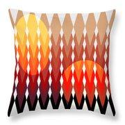 Geometric Fun Throw Pillow by Mark Ashkenazi