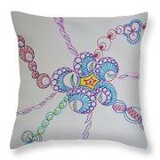 Geometric Greeting Throw Pillow