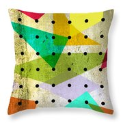 Geometric In Colors  Throw Pillow by Mark Ashkenazi