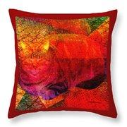 Geometric Kitty Throw Pillow