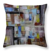 Geometric Modern Painting Original On Canvas Throw Pillow
