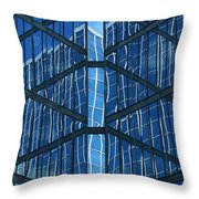 Geometric Reflection Throw Pillow