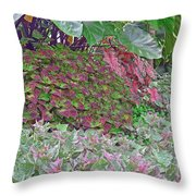 Geometric Shapes Of Nature Throw Pillow