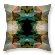 Geometric Textured Abstract  Throw Pillow
