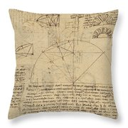 Geometrical Study About Transformation From Rectilinear To Curved Surfaces And Vice Versa From Atlan Throw Pillow