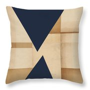 Geometry Indigo Number 2 Throw Pillow by Carol Leigh