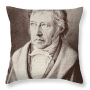 Georg Hegel  Throw Pillow