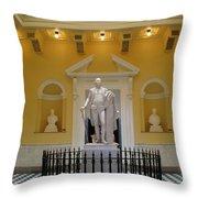Georg Washington Statue - Capitol Richmond Throw Pillow