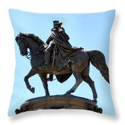 George And His Horse Throw Pillow