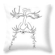 George Bernard Shaw Caricature Throw Pillow