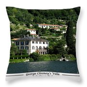 George Clooney Villa.como Throw Pillow