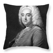 George Frederic Handel Throw Pillow