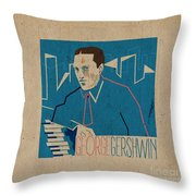 George Gershwin Throw Pillow