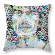 George Harrison Portrait.2 Throw Pillow