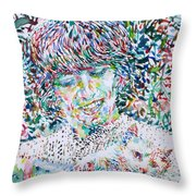 George Harrison With Cat Throw Pillow