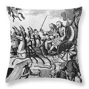 George IIi Cartoon, 1775 Throw Pillow