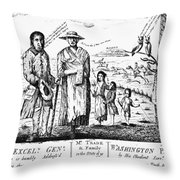 George IIi Cartoon, 1779 Throw Pillow
