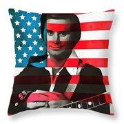 George Jones American Country Throw Pillow