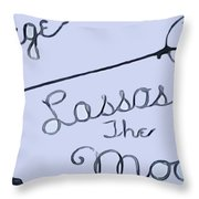 George Lassos The Moon Throw Pillow by Dan Sproul