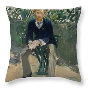 George Moore In The Artist's Garden Throw Pillow