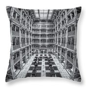 George Peabody Library II Throw Pillow