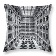George Peabody Library Iv Throw Pillow