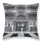 George Peabody Library Vi Throw Pillow