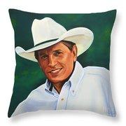 George Strait Throw Pillow