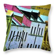 George Street In The Rocks Throw Pillow