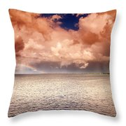 George Town-grand Cayman Rainbow After The Storm Throw Pillow