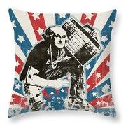 George Washington - Boombox Throw Pillow