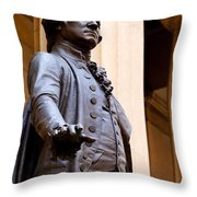 George Washington Throw Pillow by Brian Jannsen