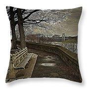 George Washington Bridge From Fort Tryon Throw Pillow
