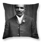 George Washington Carver (c1864-1943) Throw Pillow