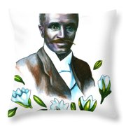 George Washington Carver Throw Pillow