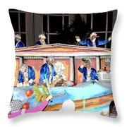 George Washington Float Side View Throw Pillow