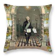 George Washington Freemason Throw Pillow